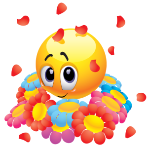 emoticon-with-flowers